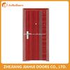 Nice appreance Single leaf security steel door for exterior