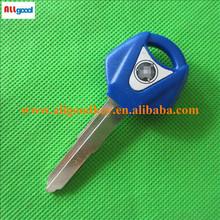 yamaha motorcycle key blank blue color for yamaha YZF R1 R6 FZ1 FZ6 FZ8 XJR 1200 1300 XVS T MAX short blade