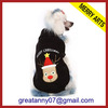 2015 new product wholesale Black High quality christmas pet clothing with dog logo