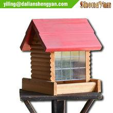 Decorative Wooden Bird Feeder/Cages Wholesale Bird House Feeder