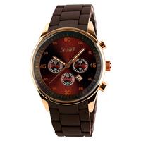 Vintage Luxury Big Face Dual Time Quartz Mens Luxury Timepieces Wholesale Model #9065
