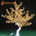 Luzes da árvore de natal levou com led folhas de bordo