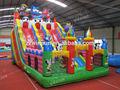Colorful kids inflable azul gato castillo de salto, Juegos inflables para el parque de atracciones, Evasión de obstáculos juguetes