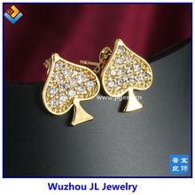 2014 wholesale fashion women gemstone cheap stud diamond earrings alibaba express light weight earring