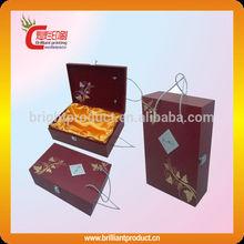 High end custom wine glass cardboard gift box