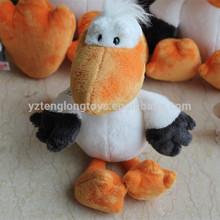 Funny stuffed pelican, soft plush pelican toy
