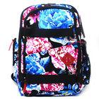 KOSTON 2014 big flower printing backpacks with skateboard style KB008