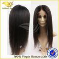 Fábrica al por mayor 100% sin procesar brasileño peluca llena del cordón del pelo humano remy