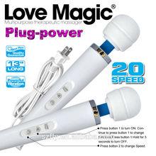 White & Purple,Love Magic 20 Speeds Magic Wand Massager, Ultra Powerful Body Massager, Clitoral Vibrator