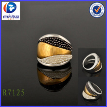 Black and white pearl mixed high-quality ladies' finger ring