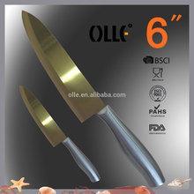 Classic Golden Titanium Coating Kitchen Ceramic Knife