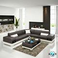 Pequeno em forma de L sofá de couro com função casa usada sofá de couro