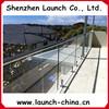 stainless steel U channel for frameless glass balcony
