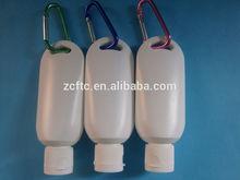 Sunscreen Hanging Plastic Bottle ,cosmetic bottle with ring,50ml hanging hooker plastic bottle
