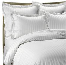 Dobby Stripe Duvet Cover Set In White