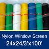 24x24 Nylon Window Screen 3'x100'