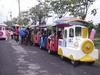 Fwulong Unique Design Dudu Fiberglass Electric Train for Sale