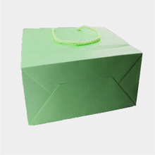 Custom made Red gift paper bag with Silk ribbon&low price from guangzhou