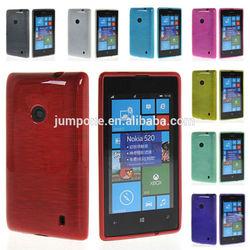Flexible Soft Gel TPU Silicone Skin Slim Back Case Cover For Nokia Lumia 520