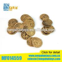 Pirates toys fake Plastic copper coin Plastic coin