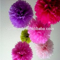 Craft decoration for room flower decoration,pompoms flower