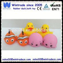Sealion & clown fish & rubber ducks