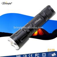 Aluminum Rechargeable CREE XM-L2 U2 Zoom Flexible LED Flashlight