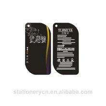 Cheap cute down feather tag printing screen hang tag