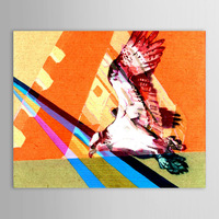 Hand Painted Oil Painting Animal Flying Eagles Acrylic Painting on Canvas for Sale
