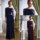 Custom Made Dark Blue Three-piece chiffon Pant Suit Mother Of The Bride Groom Dresses 2014