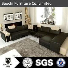 china furniture manufacturer,genuine leather u shaped sectional sofa,sofa set price in india C1153