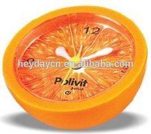 2015 new orange design table alarm clock