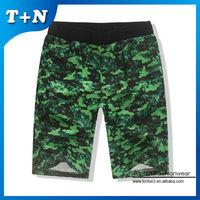 hot selling green mens camo cargo shorts factory