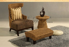 rattan life leisure natural rattan bull chair