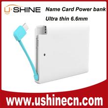 China Shenzhen supplier Pocket Wallet Card Power Bank Direct Store Dealer for iPhone6