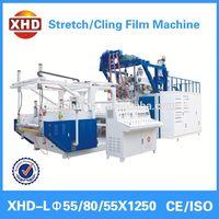 High output extruder stretch film slitting machine