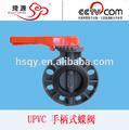 Válvula de mariposa en pvc niveladora hecha en China