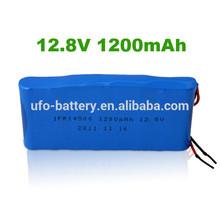 lithium phosphate battery 12V 1200mAh LiFePO4 Battery for Solar Light