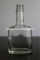 CRYSTAL FLINT 375ML GLASS WHISKY FLASK BOTTLE