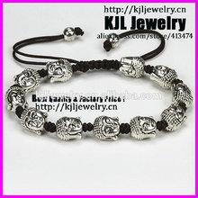 KJL-A0183 hot sale,buddha head bracelet,macrame braiding mens charm bracelet