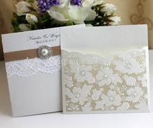 EA493 hot sale fashion custom laser cutting invitation card for wedding