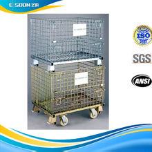 mesh box wire cage metal bin storage container