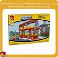crianças plástico double decker bus para venda 3d blocos de construção de brinquedos