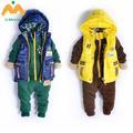 Hangzhou vestuário infantil, japão e coreia do sul para engrossar o terno w2119d zhongtong lazer moda três- pedaço terno