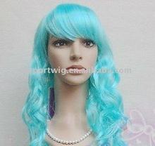 light blue wave cosplay wig
