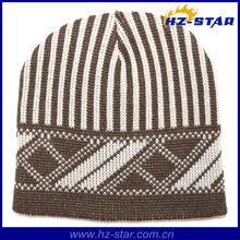 HZM-13686-4 new arrive fashion design children winter knitted brown kids fur hat