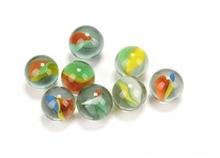 drei cat eye glas marmor zum verkauf