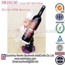 wholesale new item resin chef decorative wine bottle holder