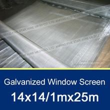 14x14 Galvanized Window Insect Net 1x25m