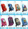 Wholesales child 2014 lastest design 3D eva rolling wheeled trolley school bag cases